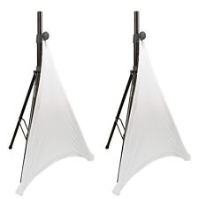 American DJ Audio Tripod Speaker Stand Cover Disco DJ White Scrim Decor Venue X2