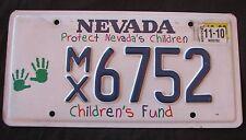 "NEVADA   PROTECT CHILDREN KIDS BOYS GIRLS FUND  "" MX 5672 ""  License Plate  NV"