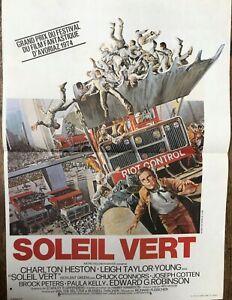 Affiche cinéma originale SOLEIL VERT  format 40 x 60   Charlton Heston