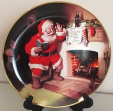 Santa Claus Coke The Pause That Refreshes 1993 Christmas Plate Coca Cola 8.25""