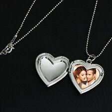 Medaillon SILBER Foto Herz Medallion Halsketten Anhänger Amulett zum öffnen Neu