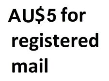 Registered Mail Postage Airmail with a Tracking Number AUD