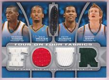 KEVIN DURANT 2009-10 SP GAME USED FOUR ON FOUR FABRICS JERSEY #34/99