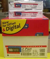 NCR Paper Brand 3-part REVERSE Carbonless Paper - 1 CASE 5010 sheets