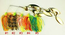 A0234 STOCK 10 PZ ARTIFICIALE SPINNERBAITS LURES LUCCIO BLACK BASS PIKE 14,3 GR