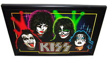 "Kiss L.E.D. Light Up Framed Poster Awesome Art Graphics 19""W x 13½"" x ¾""D"