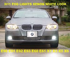 White Xenon HID Look Fog Light Bulbs Fits E90 E91 E70 E92 E93 E60 E61 Z4 X5 Z4
