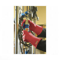"""Marigold 118387 Electrical Lineman's Gloves Class 00 Red 11"""" Size 10"""