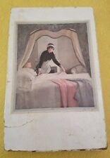 Empty vintage box French Maid Bedroom gown sheets ephemera lingerie pink gray