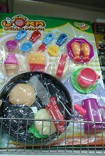Set cucina pentole accessori cibo Kit gioco di qualità giocattolo toy a35