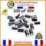 Lot Condensateurs Chimique RADIAL 220µF 220uF 220MF 50V 105° Électrolytique