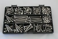 M4 Stainless Steel Bolts Set Screws Nuts and Washers Assorted Kit 390 Pieces
