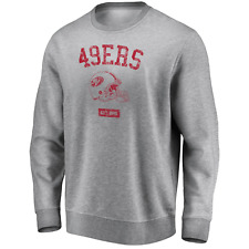 San Francisco 49ers NFL Men's Iconic Helmet Graphic Crew Sweatshirt - Grey - New
