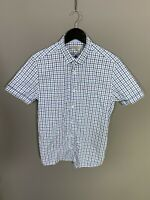 TED BAKER Short Sleeve Shirt - Size 3 Medium - Check - Great Condition - Men's