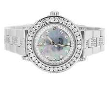 Custom Ladies Breitling Aeromarine MOP Colt Oceane 33 Diamond Watch A77387 9.5Ct