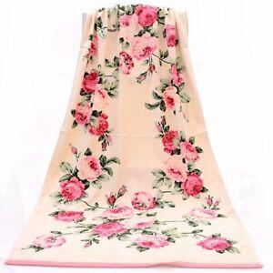 Bath Towel Floral Printed Peony 100% Cotton High Quality Beach Men Women Soft