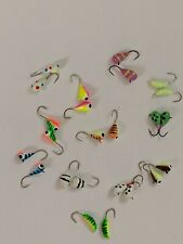 (24) Assorted Tungsten Ice jigs Glow Uv 4mm #14 Hook Crappie Sunfish