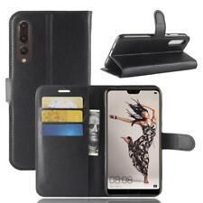 Funda para el Huawei P20 Pro Libro Cover Wallet Case-s bolsa Negro
