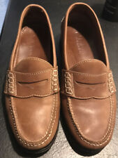 COLE HAAN Men's Size 11 D - Dustin II Brown Leather Slip On~PENNY LOAFERS
