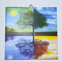 Dekofliese Wandbild Bildfliese Baum Vier Jahreszeiten (130DP Geschenkidee Fliese
