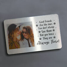 Personalised Metal Wallet Purse Card With Photo Best Friends Friendship Gift
