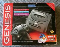Vintage Sega Genesis Sonic 2 System In Original Box Console Controller Sonic 2 +
