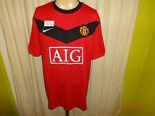 "Manchester United Original Nike Heim Trikot 2009/10 ""AIG"" Gr.XL Neu"