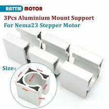 3pcs Aluminium Motor Bracket Mount Clamp Support For Cnc Nema23 Stepper Motor