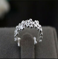 925 Solid Sterling Silver Plated Women/Men NEW Fashion Ring Gift SIZE OPEN HD666
