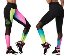 Zumba Surf High Waisted Panel Leggings - Gumball size XS & Small ~ Free Ship!