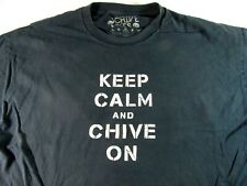 KEEP CALM AND CHIVE ON Men's T-Shirt 2XL