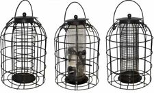 Deluxe Bird Feeding Station, Water Bath and 3 Domed Feeders- nut, fat ball, seed