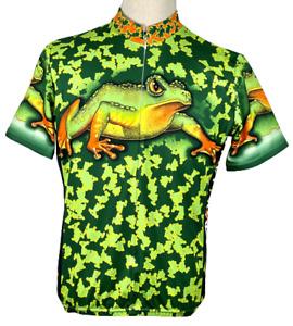 Primal Wear - 2nd Plague Frog - Cycling Bike Jersey Shirt L Mens Green