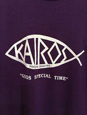 Vtg 80s KAIROS Prison Ministry Gods Special Time Purple T shirt 50/50 Medium