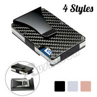 Men's Wallet RFID Blocking Slim Money Clip Credit ID Card Holder Thin Minimalist