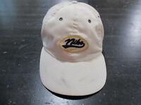 VINTAGE Nike Strap Back Hat Cap White Blue Spell Out Swoosh Adjustable Men 90s *