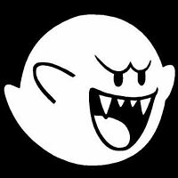 Mario Boo Decal Vinyl Sticker Car Window Wall Logo Cute Luigi JDM Ghost