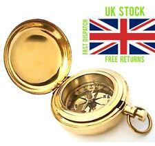 Brass Push Button Direction Compass POCKET COMPASS