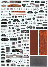 Dashboards For Model Car Armaturenbretter For Model Car 1:43 Decal