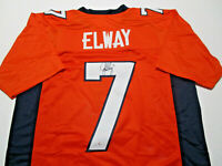 JOHN ELWAY / NFL HALL OF FAME / AUTOGRAPHED BRONCOS ORANGE CUSTOM JERSEY / COA