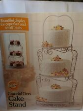 NEW!! Wilton GRACEFUL TIERS CAKE STAND White Scrolled Wire Romantic Design
