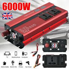 1500/4000W Caravan Power Inverter DC 12V to AC 220V Converter 4 USB 3 Socket UK