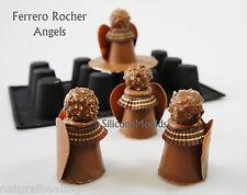12 Celdas dariole (hacer Chocolate Angels) Bakeware del silicón Molde Pastel Pan de molde