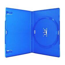 100 unico standard BLUE DVD Case 14 MM SPINE NUOVO VUOTO RICAMBIO COPERTURA Amaray