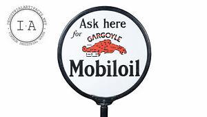 """24"""" MobilOil Gargoyle Lollipop Sign"""