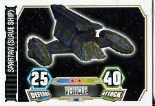 Star Wars Force Attax Series 3 Card #156 Spartan [Slave Ship]