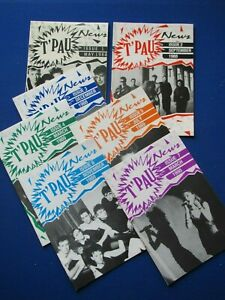 T'PAU  - 7 issues of the fanzine ' T'PAU News '  Issue 1 to 7  1988 - 1990