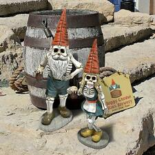 "Qm14018 ""Bavarian Oktoberfest Skeleton Gnomes"" Collection - Hans & Gerta!"