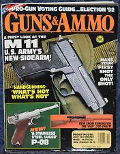 Magazine GUNS & AMMO November 1992 !! SMITH & WESSON M-41 Deluxe .22 PISTOL !!