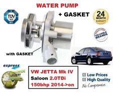 Para VW Jetta Mk IV Saloon 2.0TDi 150bhp 2014- > en Nuevo Agua Bomba con Junta
